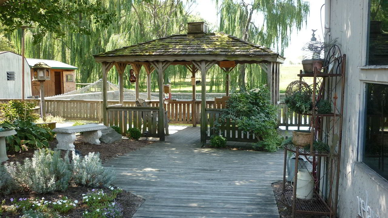 A gazebo is another patio