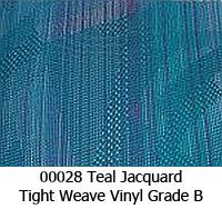 Vinyl fabric 00028 teal jacquard