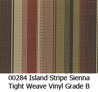 Vinyl fabric 00284 island stripe sienna