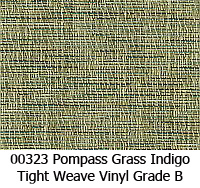 Vinyl fabric 00323 pompass grass indigo