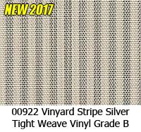 Vinyl fabric 00922 vinyard stripe silver
