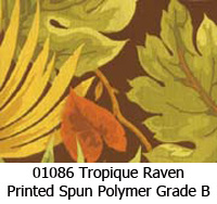 Polymer fabric 01086 tropique raven