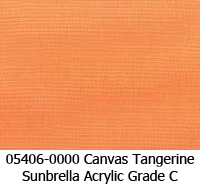 Sunbrella fabric 05406 canvas tangerine