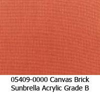 Sunbrella fabric 05409 canvas brick