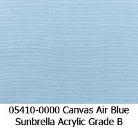 Sunbrella fabric 5410 canvas air blue