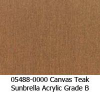 Sunbrella fabric 05488 canvas teak