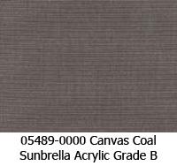 Sunbrella fabric 05489 canvas coal