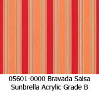 Sunbrella fabric 05601 bravada salsa
