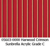 Sunbrella fabric 05603 harwood crimson