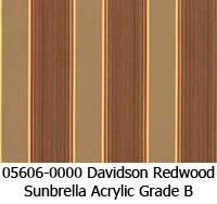 Sunbrella fabric 05606 davidson redwood