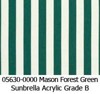 Sunbrella fabric 05630 mason forest green