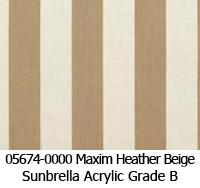 Sunbrella fabric 05674 maxim heather beige
