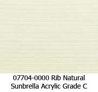 Sunbrella fabric 07704 rib natural