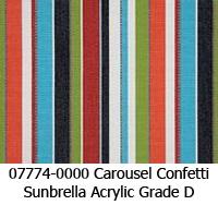 Sunbrella fabric 07774 carousel confetti