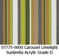 Sunbrella fabric 07775 carousel limelight