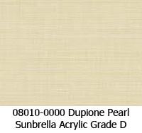 Sunbrella fabric 08010 dupione pearl