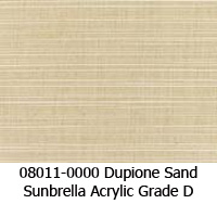 Sunbrella fabric 08011 dupione sand