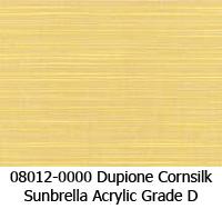 Sunbrella fabric 08012 dupione cornsilk