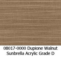 Sunbrella fabric 08017 dupione walnut