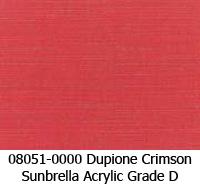 Sunbrella fabric 08051 dupione crimson