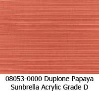 Sunbrella fabric 08053 dupione papaya