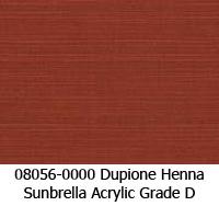 Sunbrella fabric 08056 dupione henna