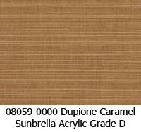 Sunbrella fabric 08059 dupione caramel