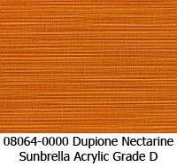 Sunbrella fabric 08064 dupione nectarine