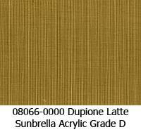 Sunbrella fabric 08066 dupione latte