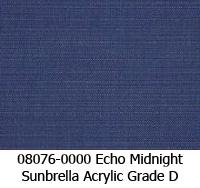 Sunbrella fabric 08076 echo midnight