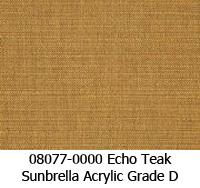 Sunbrella fabric 08077 echo teak