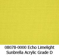 Sunbrella fabric 08078 echo limelight