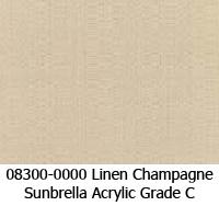 Sunbrella fabric 08300 linen champagne