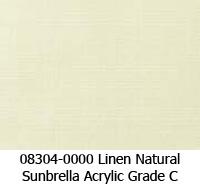 Sunbrella fabric 08304 linen natural
