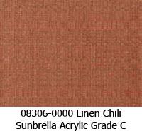 Sunbrella fabric 08306 linen chili