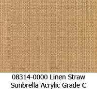 Sunbrella fabric 08314 linen straw