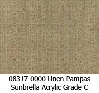 Sunbrella fabric 08317 linen pampas