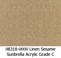 Sunbrella fabric 08318 linen sesame