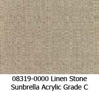 Sunbrella fabric 08319 linen stone