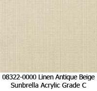 Sunbrella fabric 08322 linen antique beige