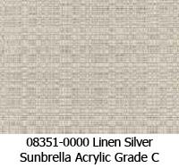 Sunbrella fabric 08351 linen silver