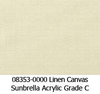 Sunbrella fabric 08353 linen canvas