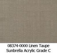 Sunbrella fabric 08374 linen taupe