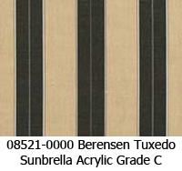 Sunbrella fabric 08521 berenson tuxedo