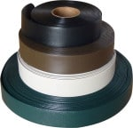 Rolls of vinyl strap