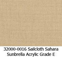 Sunbrella fabric 32000-0016 sailcloth sahara