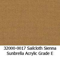 Sunbrella fabric 32000-0017 sailcloth sienna