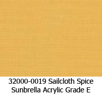 Sunbrella fabric 32000-0019 sailcloth spice
