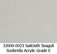 Sunbrella fabric 32000-0023 sailcloth seagull