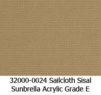 Sunbrella fabric 32000-0024 sailcloth sisal